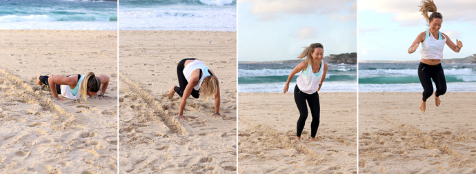 beach burpees