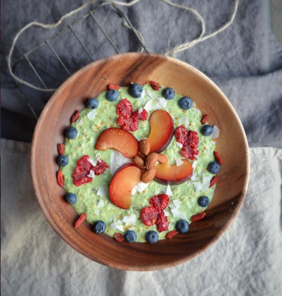 Matcha Porridge by Food Mood kitchen and cocobella