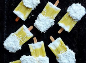 Pineapple, Mint and Coconut Popsicles