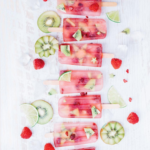 Raspberry, Lime & Kiwi Pops