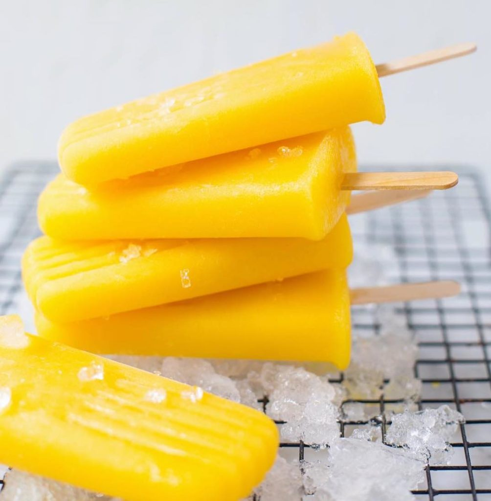 Pineapple & Mango Popsicles