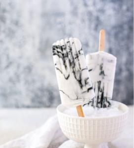 Marble Yoghurt Popsicles