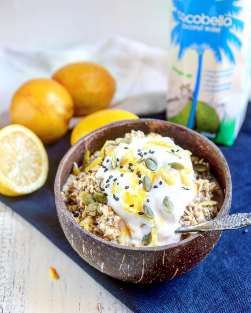 Lemon & Coconut Bircher Muesli @HealthyFrenchWife