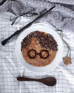 @jinxdahlia Harry Potter themed Cocobella Butterbeer Style Oats