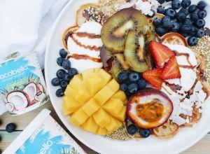 Cocobella Vanilla and Coconut Waffles @healthiforhappy