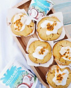 Elly Wright @healthiforhappy Passionfruit and White Choc Muffins