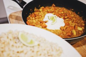 Sweet Potato and Chickpea Coconut Curry by @tygerlyons