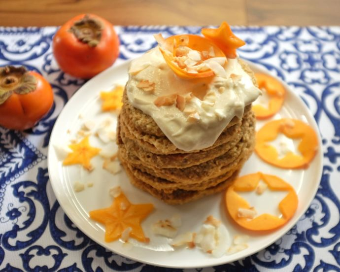 Persimmon Pancakes by @myfamilysfooddiary