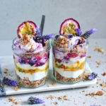 Coconut, Blueberry and Passionfruit Nut Crumble Parfaits