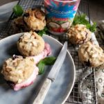 Lime and Blueberry Muffins with Cocobella Strawberry Coconut Yoghurt