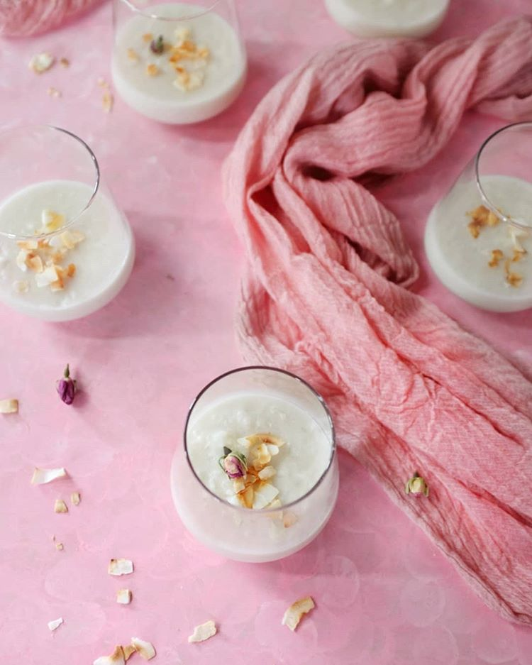 @myfamilysfooddiary – Coconut Rice Pudding with Rosewater