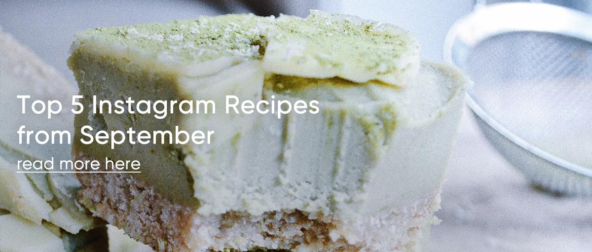 Top 5 Instagram Recipes from September