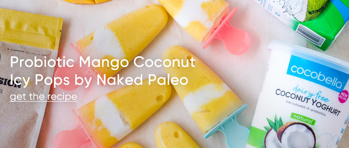 Probiotic Mango Coconut Icy Pops by Naked Paleo