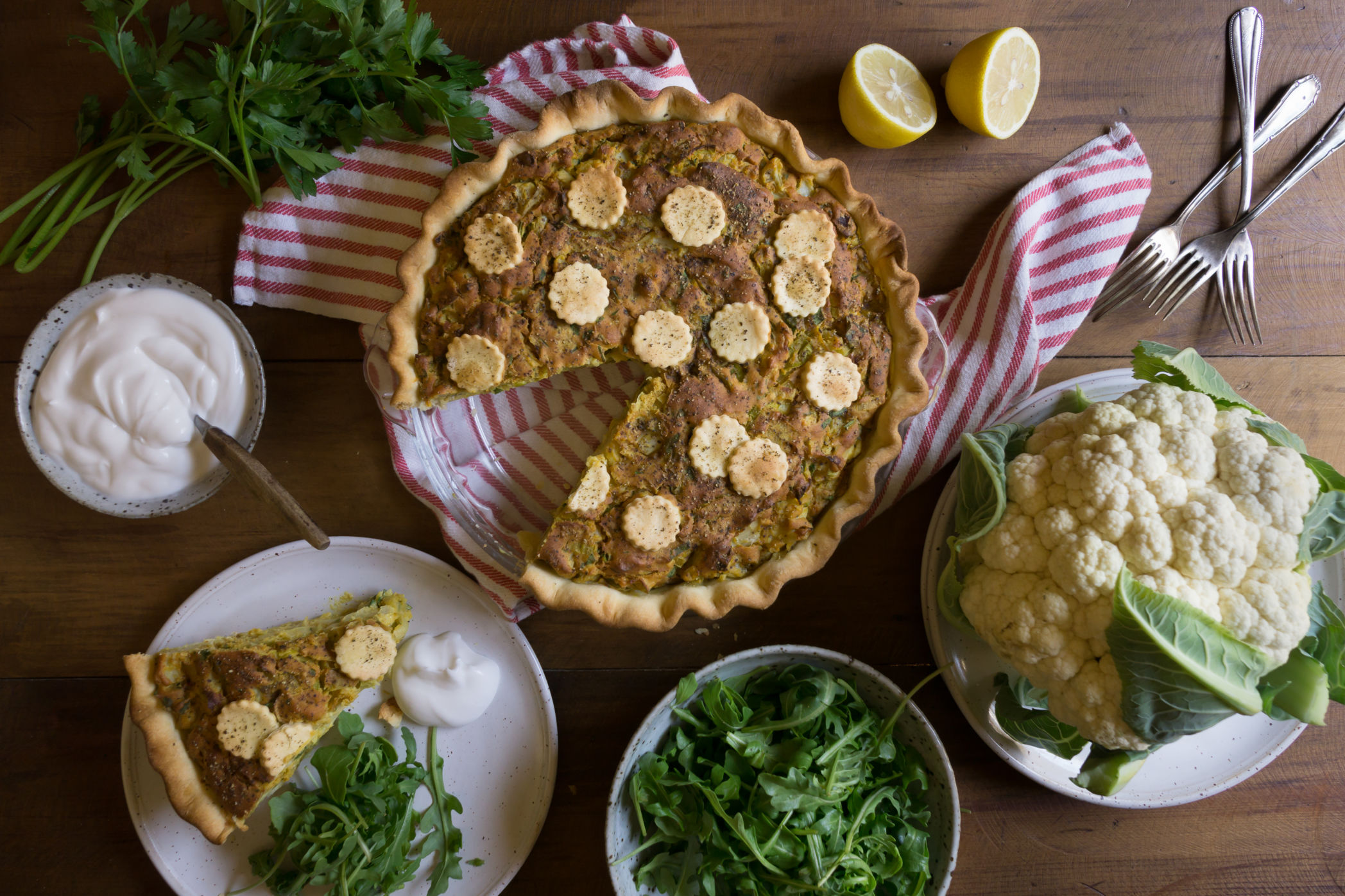 Cocobella Cauliflower Leek Pie-5