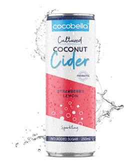 Cocobella Coconut cider - Strawberry Lemon