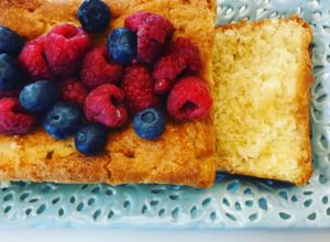 Vegan Lemon Syrup Cake by @saying.it.with.flours