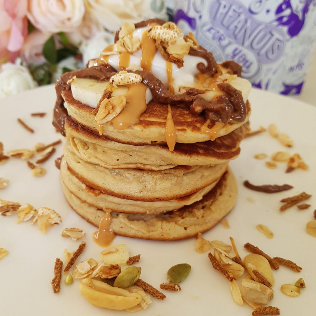 Peanut Butter Pancakes by @michellemurt