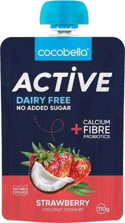 Cocobella active pouch strawberry